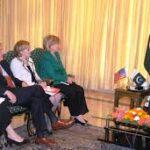 Gilani and Hilary Clinton