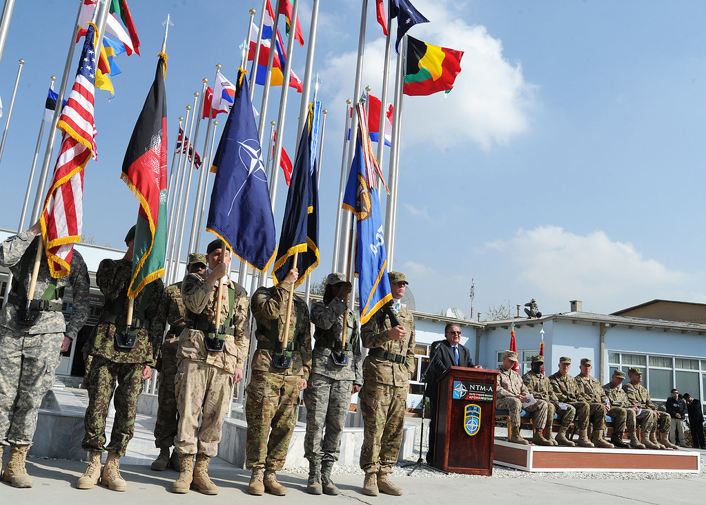 Flags of NATO and Coalition Forces in Afghanistan